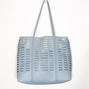 Anthropologie Robins Egg Blue Caged Tote